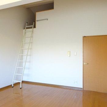 洋室にはロフトが!(※写真は2階の同間取り別部屋のものです)