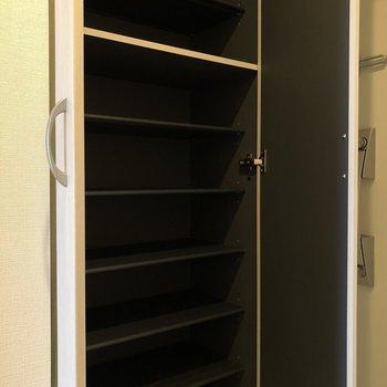 お気に入りの靴がたくさん入りそうです※写真は5階の同間取り別部屋のものです