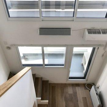 こんだけ窓が大きいからお部屋は明るいんです!