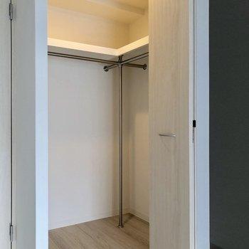 収納は奥行きがあります※写真は5階の同間取り別部屋のものです