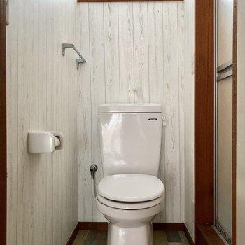 トイレがありました※写真はクリーニング前のものです