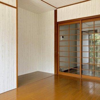 【洋室】くぼみに収納棚を置こうかな※写真はクリーニング前のものです