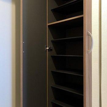 シューズボックスも大容量※写真は5階の同間取り別部屋のものです