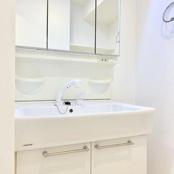 シャワー水栓にも切り替え可能です。