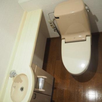 トイレは手洗い場付き!