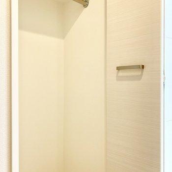 クローゼットは洋室ドア手前にあります。 ※写真は5階の同間取り別部屋のものです