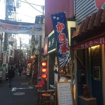 こちらが知る人ぞ知る、沖縄タウン!ふらっと寄りたいお店ばかり。