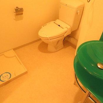 水回りがぎゅっと※写真は8階の反転間取り別部屋のものです。