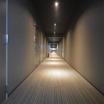 共用廊下も高級感!