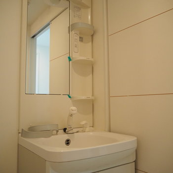 洗面台はスタンダードタイプのもので