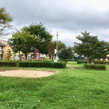 目の前には公園もあります。お子さんがいても遊び場に困らない!