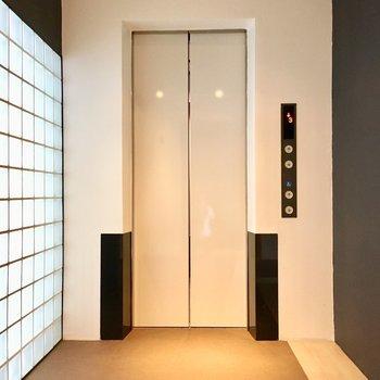 エレベーターも綺麗で清潔感ありますね。
