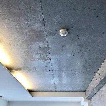 天井はコンクリート打ちっ放し