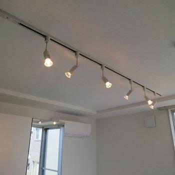 嬉しいライティングレール!※写真は3階の同間取り別部屋のものです
