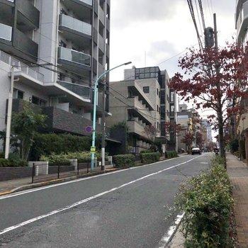 お部屋周辺の通りは落ち着いた雰囲気。