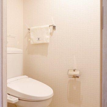 お手洗いは脱衣所とは別になっています。※家具・雑貨はサンプルです