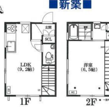 メゾネットのお部屋。まず1階から見ていきましょう。