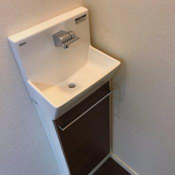 洗面所から離れているので手洗いスペースがちゃんとありました