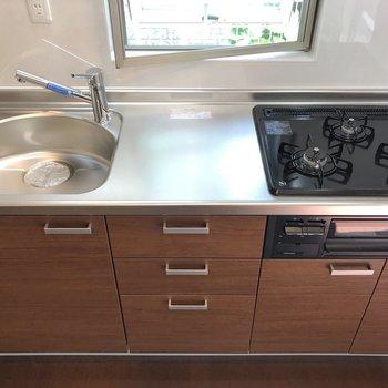 【LDK】キッチンにはしっかり調理スペースがありました