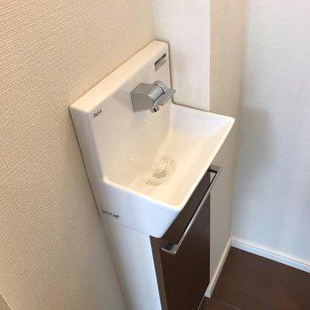 洗面台と離れているので手洗いスペースがありました