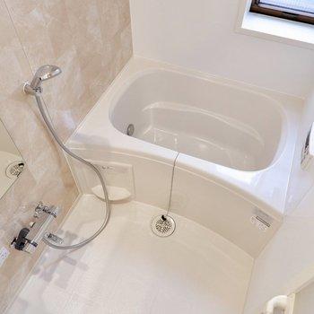 浴室にも窓があり、電気付けずとも日中は入れそうです。