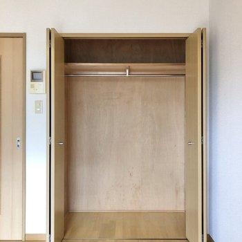 クローゼットも大容量です※写真は2階の同間取り別部屋のものです
