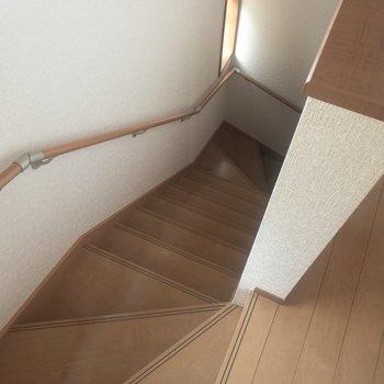 階段を上って2階へ。※写真は通電前のものです