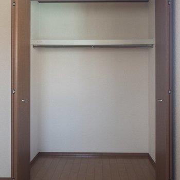 【洋室③】ここには服がたくさん入りそう。