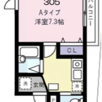 居室スペースの風通しが良いお部屋ですね