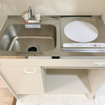 キッチンは掃除の楽なIHを採用。