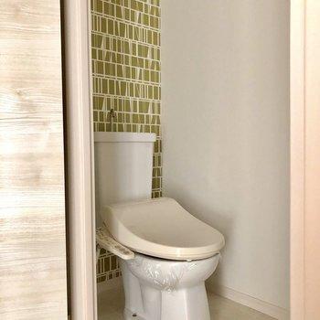クロスが可愛いトイレ!