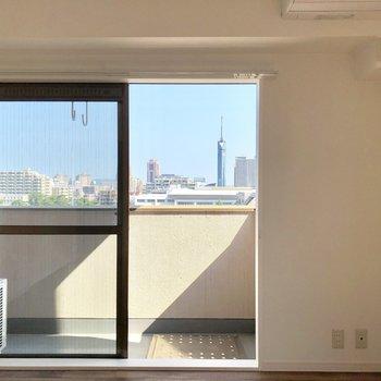 福岡タワーが見えます!!!
