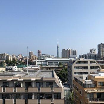 花火大会はここから!福岡タワーも見えます。