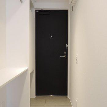 フラットな玄関はワンちゃんにやさしいですね