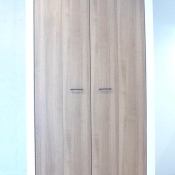 部屋の真ん中にはクローゼット※写真は3階の同間取り別部屋のものです