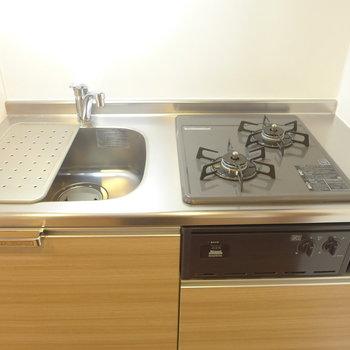 調理スペースがやや小さめ※写真は3階の同間取り別部屋のものです