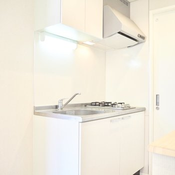 お部屋に合う白いキッチン