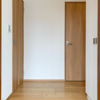 玄関を開けて、ただいまの風景です。