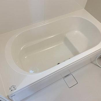 湯船も足が伸ばせる広さ。ゆっくりと半身浴もできそうです。
