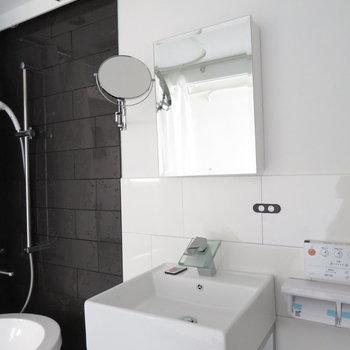 シンプルな洗面台(※写真は3階の同間取り別部屋のものです)