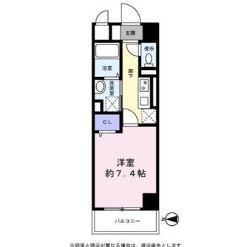 居室とキッチンは扉で別れています。