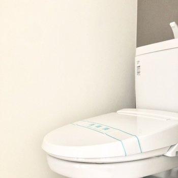 トイレにはアクセントクロス。