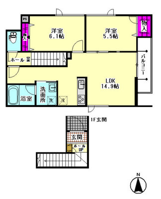 仮)大田区東糀谷2丁目シャーメゾン の間取り