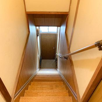 階段を降りて行きますと…