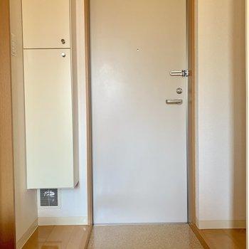 玄関はコンパクト※写真は通電前のものです