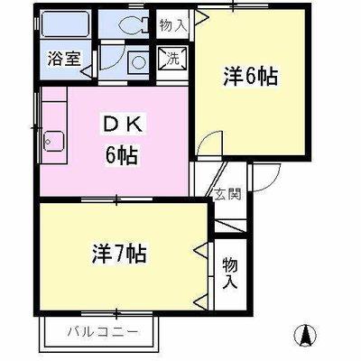 三ツ境8分アパート の間取り