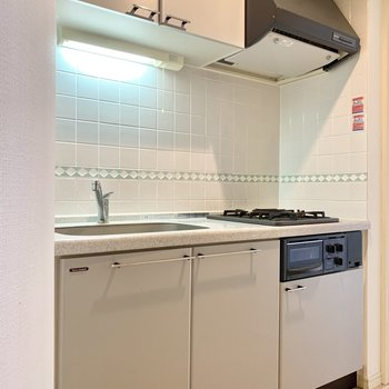 収納スペース充実なキッチン
