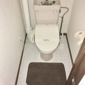 トイレはウォシュレット付き。(※写真の小物は見本で、フラッシュ撮影をしています)