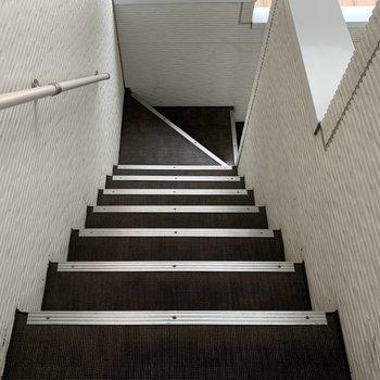 階段でのアクセスです。