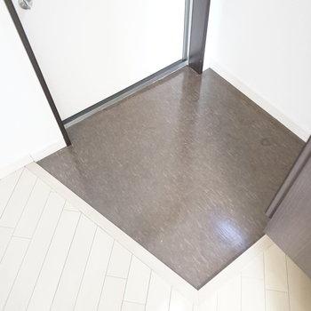 玄関はひとりなら適正な大きさ。